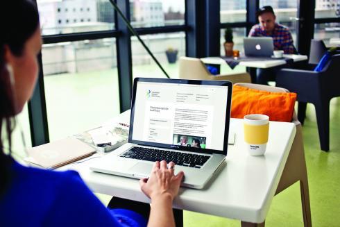 Woman browsing SQF website
