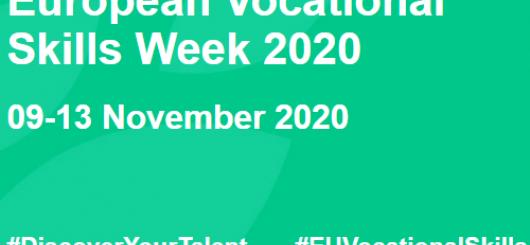 na sliki piše: Evropski teden poklicnih spretnosti 2020. 9.- 13. november, #discoveryourtalent, #euvocational skills